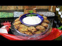 Κολοκυθοκεφτέδες φούρνου μυρωδάτοι!!! - YouTube Zucchini, Fritters, Hummus, Oven, Cheese, Meat, Chicken, Baking, Ethnic Recipes