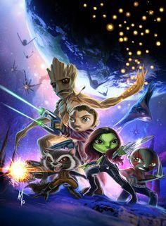 mini Guardians of the Galaxy by Corsariomarcio.deviantart.com on @deviantART