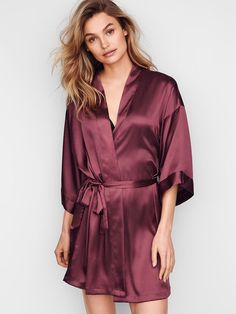 Downtime gets glam with the Kimono from Victoria's Secret. Shop our sleepwear collections for the softest, slinkiest wraps and robes. Color: raddish; Size: xs/s