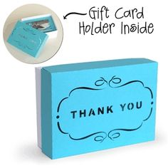 Silhouette Design Store: 3d box gift card holder box - thank you