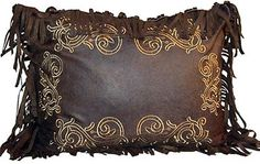 Thank you. You will receive a $1 off coupon during checkout. Chocolate Scroll Pillow - Western Elegance