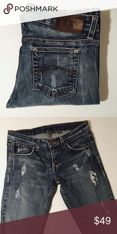 Armani Exchange Destroyed Jeans Size 2 Short Armani Exchange Destroyed Jeans. 31 inch inseam. Perfect Condition.   All items come from a smoke free home and are shipped on the same or following day an order is placed.   Reasonable offers are considered and often accepted. Deals on bundles are also available.   Items are shipped in polymailers placed INSIDE boxes to ensure all purchases are completely protected from damage or weather conditions. A/X Armani Exchange Jeans Boot Cut