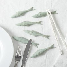 Set of Six Decorative Fish Knife Rests design by Tozai Home