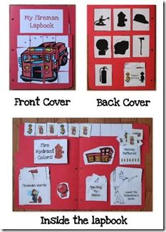 Community Helpers - Fireman Lapbook for preschool along with learning ideas Community Workers, School Community, Preschool At Home, Preschool Activities, Book Activities, Fire Safety Week, Community Helpers Preschool, Fire Prevention, School Themes