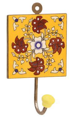 Shabby Country Beautiful Flowers Chic Coat Hook Hat Rack BELLE FLEURS