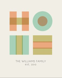 Custom Home Print with Family Name. $18.00, via Etsy.