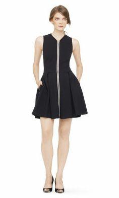 Sofie Leather Trim Knit Dress - Club Monaco Casual - Club Monaco
