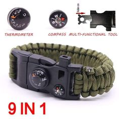 9 in 1 Paracord Survival Bracelet