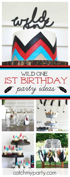 Check out this awesome Pow-Wow 1st birthday party! The teepee sandwiches are so cool!! See more party ideas and share yours at CatchMyParty.com