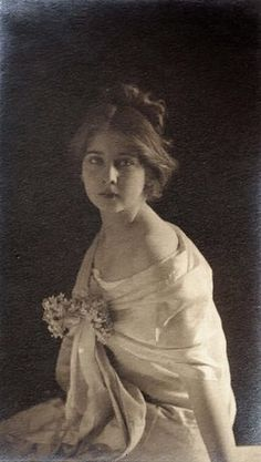 "Princess Marie Alexandra Victoria of Romania, aka ""Mignon"". She married Ferdinand I, King of Romania. They had 6 children."