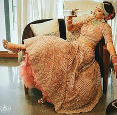10 Prettiest Unconventional Wedding Lehenga For This Season! - page 4 Bridal Poses, Bridal Photoshoot, Bridal Portraits, Bridal Shoot, Lehenga Choli, Anarkali, Saree, Punjabi Bride, Indian Bridal Lehenga