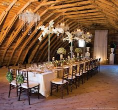 in a barn, small and intimate