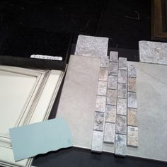 Master bath - countertop, cabinet, flooring and shower wall tile, shower accents, shower floor tile and paint color.