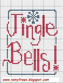 Romy's Cross Stitch Patterns: Jingle Bells!