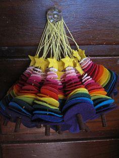 Miss Felt Queen @Leonie Bosklopper Dawson :: LeonieDawson.com I think you will love this :)  //  Colorful Felt Circle Tree Ornaments