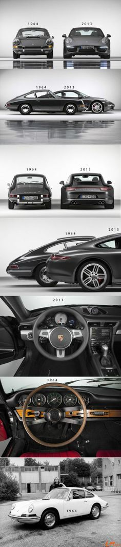 Porsche 911 Evolution (1964 to 2013) Click to find out the supreme legacy of this legendary car #50Years