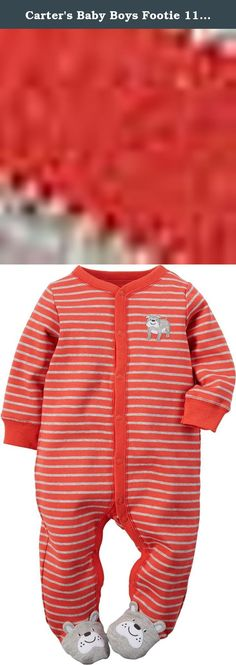 Carters Baby Boys Footie 115g070, Dog, 6 Months. Carters is the leading brand of childrens clothing, gifts and accessories in America, selling more than 10 products for every child born in the u.S. Their designs are based on a heritage of quality and innovation that has earned them the trust of generations of families.