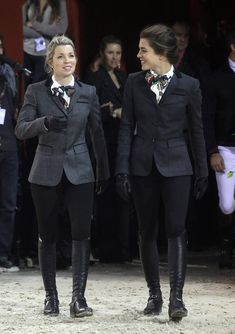 (L-R) Edwina Alexander and Charlotte Casiraghi  attend the International Gucci Masters Competition at Paris Nord Villepinte on December 4, 2010 in Paris, France.