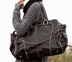Leather Shoulder Messenger Bag.