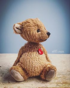 #teddy #miniature Miniatures, Teddy Bear, Toys, Animals, Art, Activity Toys, Art Background, Animales, Animaux