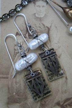 Artisan Earrings by Deryn Mentock by haitibyhand on Etsy