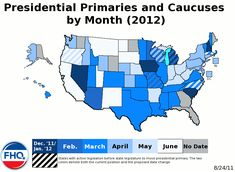 Printable 2012 Republican Primary and Caucus Schedule and Results *Updated June 26, 2012 for the Presidential election.  Click on Pin to See DVDS