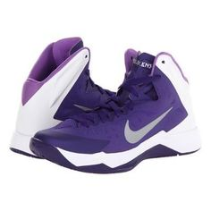 Nike Hyper Quickness TB Men's Basketball Shoes - Court Purple/White/Violet Pop/Metallic Silver