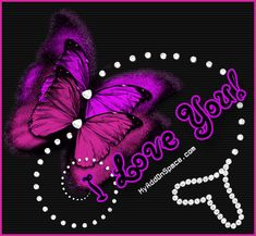 Butterfly gems I Love You Graphic plus many other high quality Graphics for your Facebook profile at KewlGraphics.com.