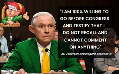 No one knows exactly how long the Elves have been lying (they have been in congress a long time). One thing we do know is that they have always remained true to their creed: We pledge to pursue our goal of lying, misdirection and alternative facts that ar Jeff Sessions, Know The Truth, Republican Party, Dumb And Dumber, In This World, Jokes, How To Apply, Thoughts, Sayings