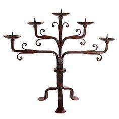 Jan Barboglio Medio Poco Altar Candelabra - iron art - #gifts