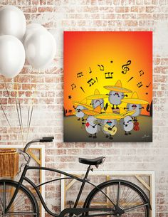 Discover «Mariachi Hedgehogs», Numbered Edition Canvas Print by Mangulica - From $49 - Curioos