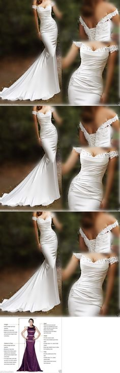 Wedding Dresses: Mermaid White Ivory Wedding Dress Bridal Gown Custom Size 6 8 10 12 14 16 18 20+ -> BUY IT NOW ONLY: $138 on eBay!