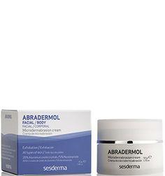 La crema exfoliante #Abradermol de #Sesderma elimina las impurezas y estimula la renovación celular de cuerpo y cara. Está indicada para todo tipo de pieles y su efecto de microdermoabrasión proporciona un pilling intenso.