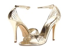Barney Stinson would approve of these legendary metallic sandals from Chinese Laundry, which are actually called – wait for it – Legendary. A gold strappy sandal is close to a wa… Gold Strappy Sandals, Metallic Sandals, Cruise Outfits, Cruise Clothes, Stiletto Heels, High Heels, Evening Sandals, Chinese Laundry, Discount Shoes