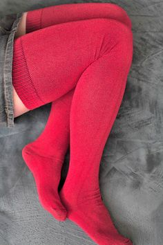 The Extraordinarily Longer Thigh High from Sock Dreams. These are the greatest. I already have them in teal and just ordered them in spice! (And a striped pair in steel/light blue!)