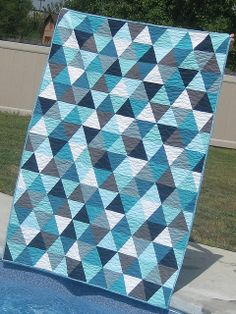 Bermuda Triangle quilt by Material Girl Quilts, via Flickr