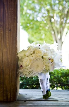 All white whimsical bouquet with texture and sparkle    Gorgeous photo by Swank Photo Studio | http://brds.vu/vZhcNh via @BridesView #wedding #photography