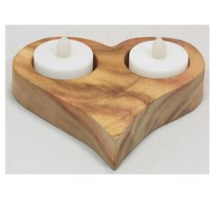 Handmade Wooden Heart Shaped Tea Light Holder from Recycled Australian Camphor Laurel Timber
