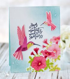 Hover In The Moment Card by Betsy Veldman for Papertrey Ink (June 2017)