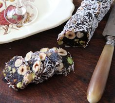 Prune, Pistachio Hazelnut Log - Quick and Easy Recipes, Organic Food Recipes, New Zealand Cooking Recipes - Annabel Langbein