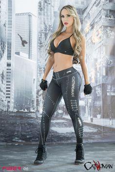 Cat Woman - Super Hero Leggings - Fiber - Roni Taylor Fit - 1