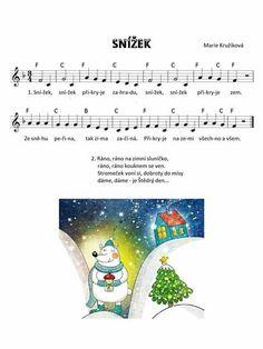 Kids Songs, Advent, Piano, Sheet Music, Preschool, Winter, Songs For Children, Children Songs, Music Score