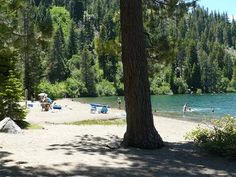 China Cove Beach in Donner Memorial State Park in Truckee, California.