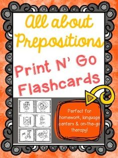 Great on-the-go therapy for prepositions!
