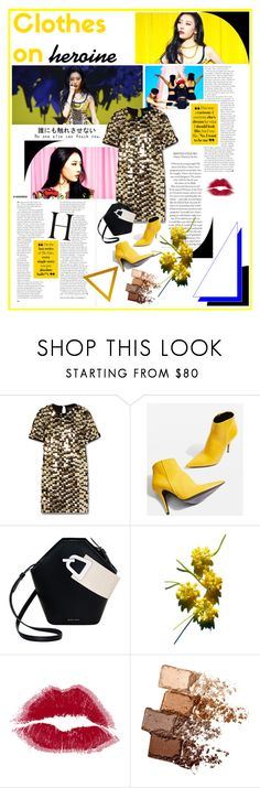 """Heroine"" by chomiczynka ❤ liked on Polyvore featuring Rachel Zoe, Topshop, Danse Lente and Maybelline"