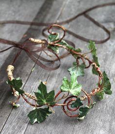 Ivy Head Wreath Wedding Halo Outdoor Weddings by sparkleandposy