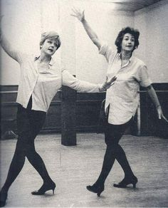 Angela Lansbury and Bea Arthur rehearse Bosom Buddies from Mame.