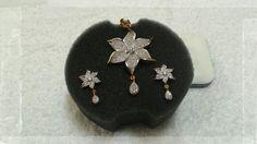 6 petal earings pendant set @610/-