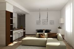 Apartment renovation - Living and Dining render Apartment Renovation, House Design, Dining, Furniture, Home Decor, Food, Decoration Home, Room Decor, Home Furnishings