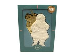 Lenox China Santa White Ornament with Gold Etched Toy Bag 1997 w/ Original Box Made in USA Measurement: 3 h x w x l Condition: Pre-owned, in very good condition. In original box. Lenox Christmas Ornaments, White Ornaments, Merry Christmas Santa, Santa Ornaments, Christmas Bags, Amazon Christmas, Christmas China, Lenox China, Globe Ornament